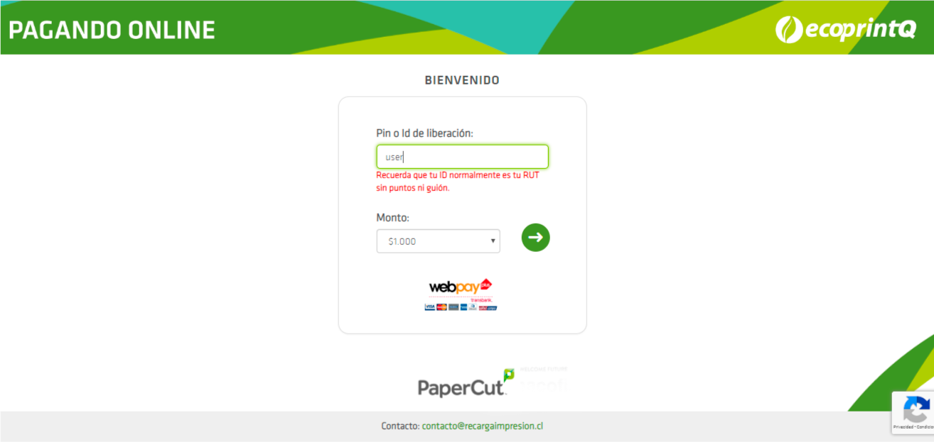 Development for Chilean means of payment